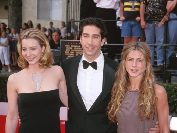 Jennifer Aniston mit Lisa Kudrow und David Schwimmer 2000 bei SAG Awards