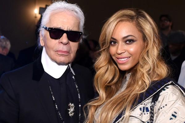 Karl Lagerfeld mit Top Sängerin Beyonce