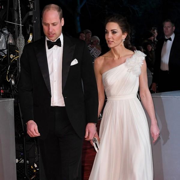 Kate Middleton Prinz William im schwarze Anzug bei den Baftas