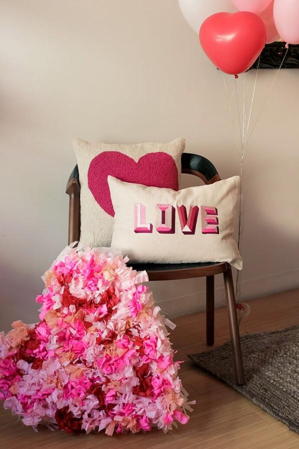 Kombination aus tollen Textilien Valentinstag