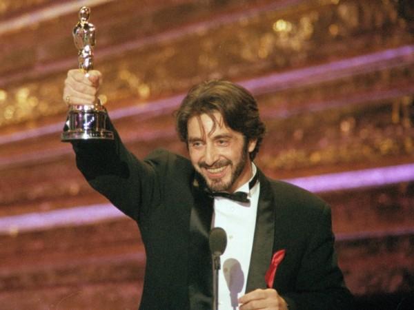 Oscar- Nominierungen Al Pacino mit seinem Oscar 1992