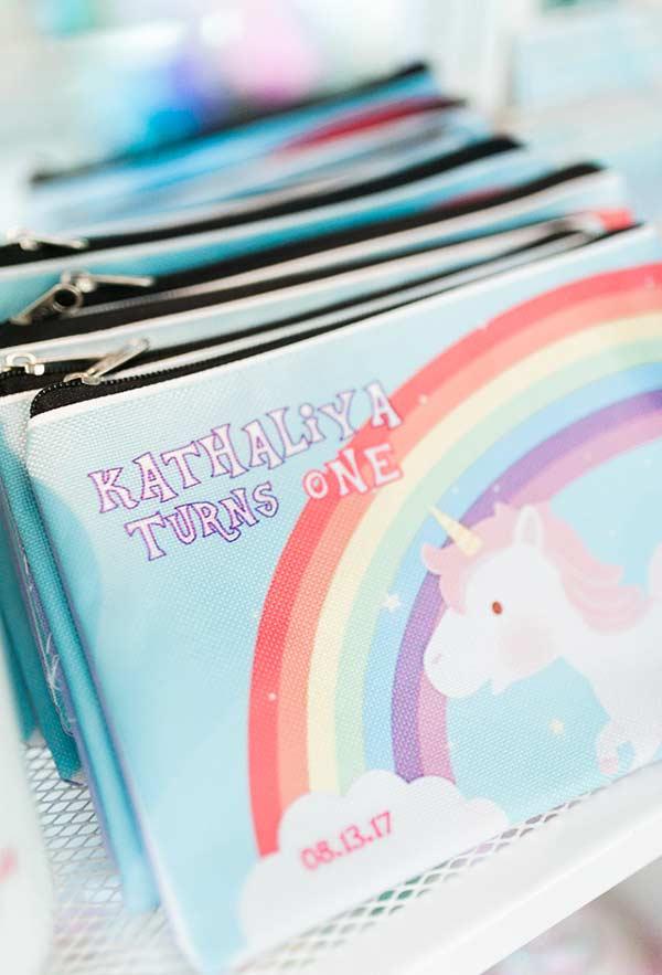 Regenbogen Taschen für Make Up Einhorn bastelideen