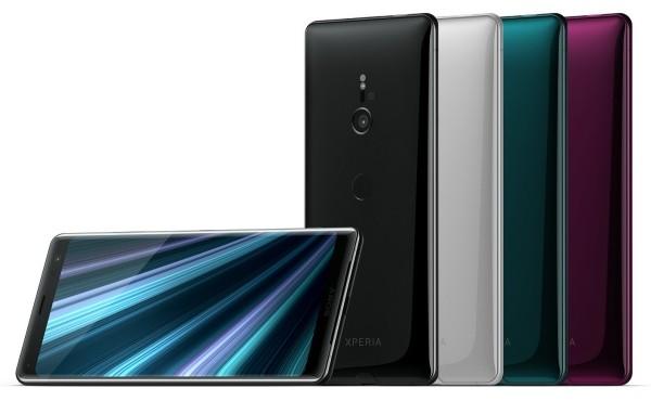 SONY XPERIA XZ3 verschiedene schattierungen smartphones