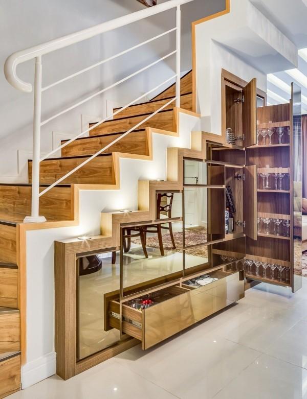 Treppenhaus Idee für den Stauraum