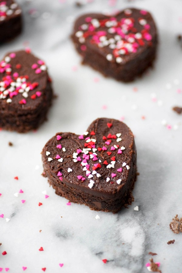 Valentinstag Herzen aus Schockolade