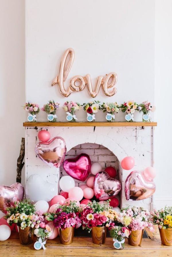 Valentinstag Kamin mit einem tollen Thema