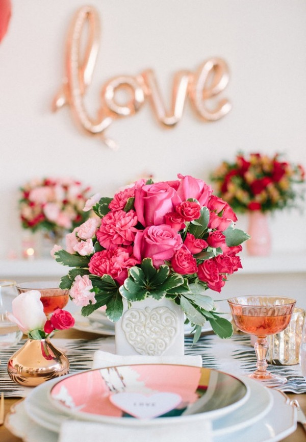 Valentinstag tolle Tischdekoration fürs Fest