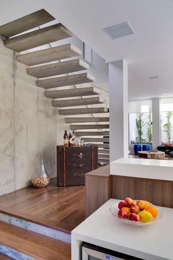 Vintage Idee für den Raum unter dem Treppenhaus