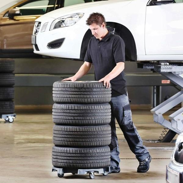 Werkstattbedarf und Werbeartikel für eine erfolgreiche moderne Autowerkstatt reifenwagen für erleichterte arbeit