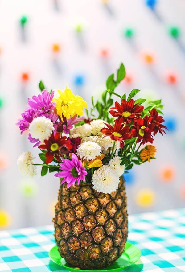 ananas als eine vase dekoideen