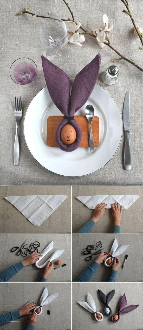 anleitung tischdeko selber machen serviette