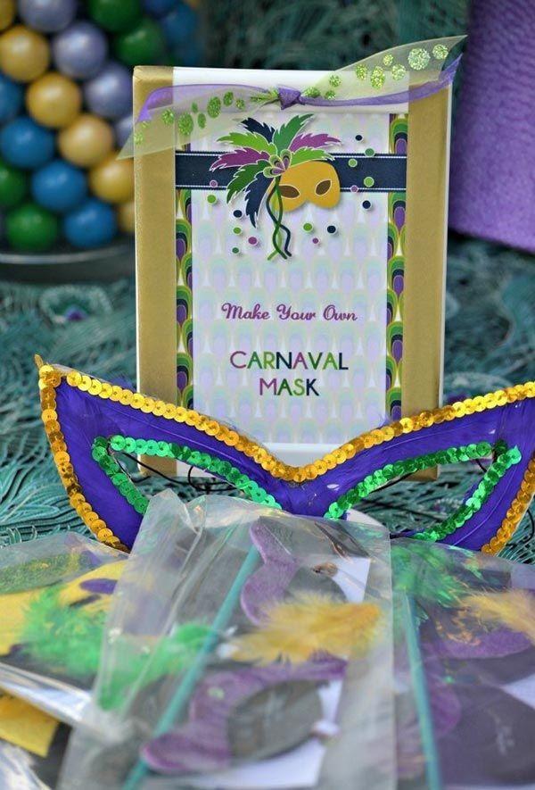dekoideen masken für den Karneval