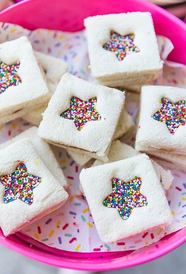 dekoideen weiße süßigkeiten