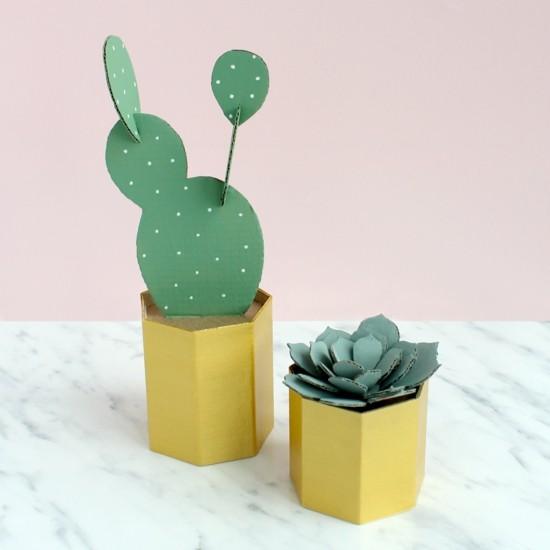 diy idee kaktus deko aus karton
