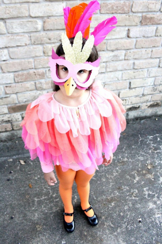 faschingskostüme kinder flamingo