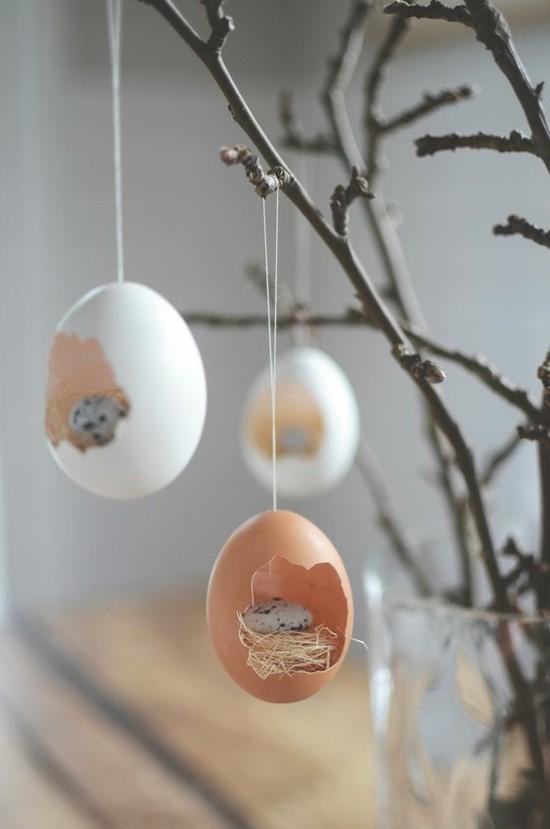 filigrane tischdeko selber machen mit eiern