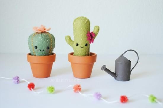 filz kaktus deko basteln