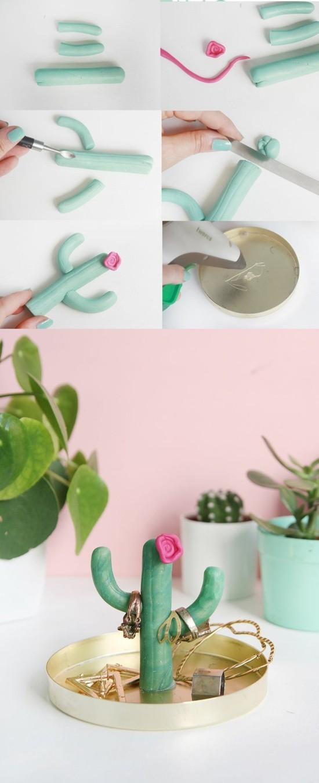 fimo kaktus deko idee