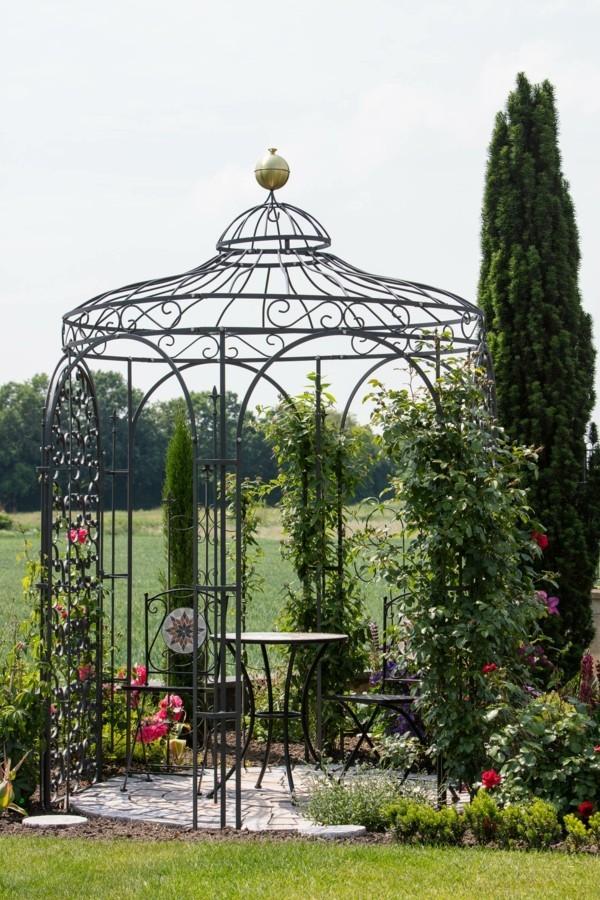 garten blumen rosenpavillon