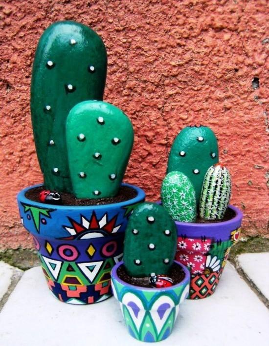 große kaktus deko blumentöpfe