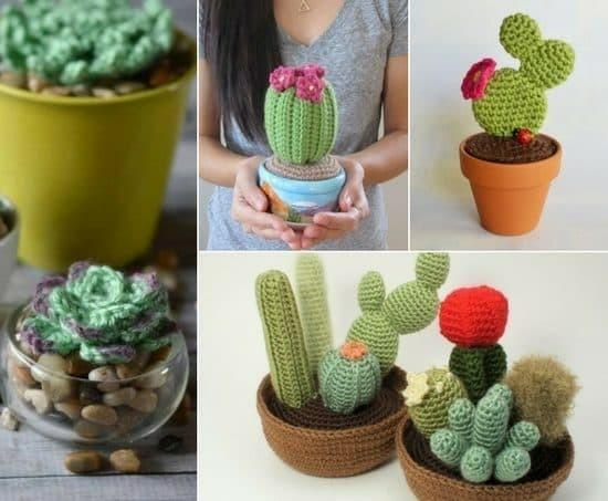 häkel ideen kaktus deko