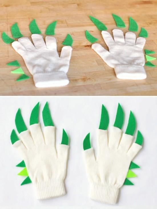 handschuhe hacks faschingskostüme kinder ideen