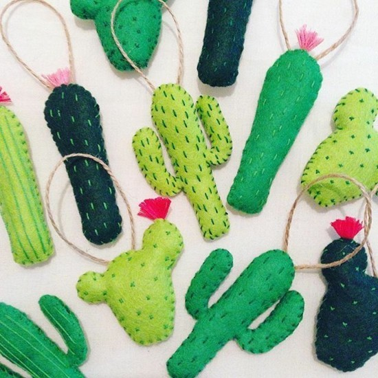 kaktus deko anhänger basteln