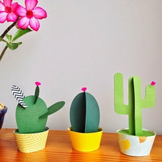 kaktus deko aus karton