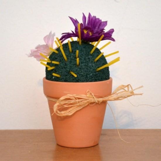 kaktus deko basteln mit kindern