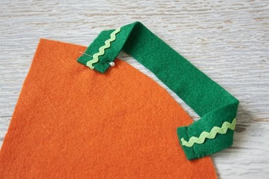 karott aus filz tischdeko selber machen