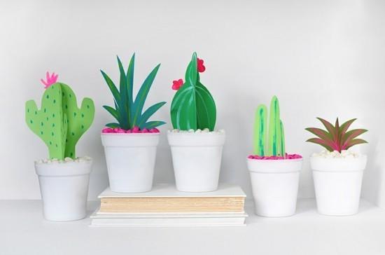 karton kaktus deko basteln