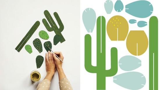 karton vorlangen kaktus deko