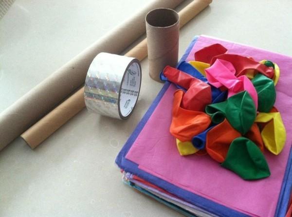 konfettikanone selber machen materialien