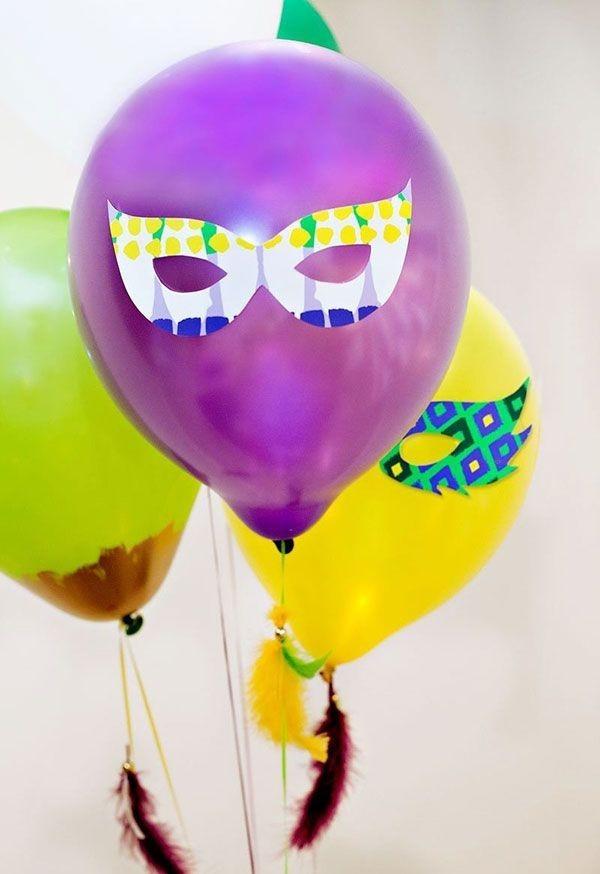 luftballons mit geichtern dekoideen