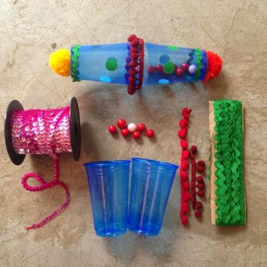maracas selber machen aus plastik