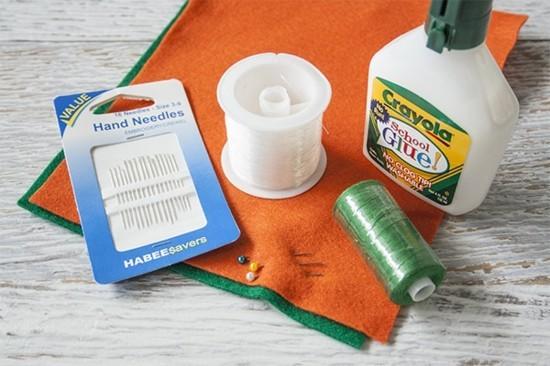 materialien filz karotte tischdeko selber machen