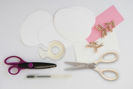 materialien schaf basteln tischdeko selber machen