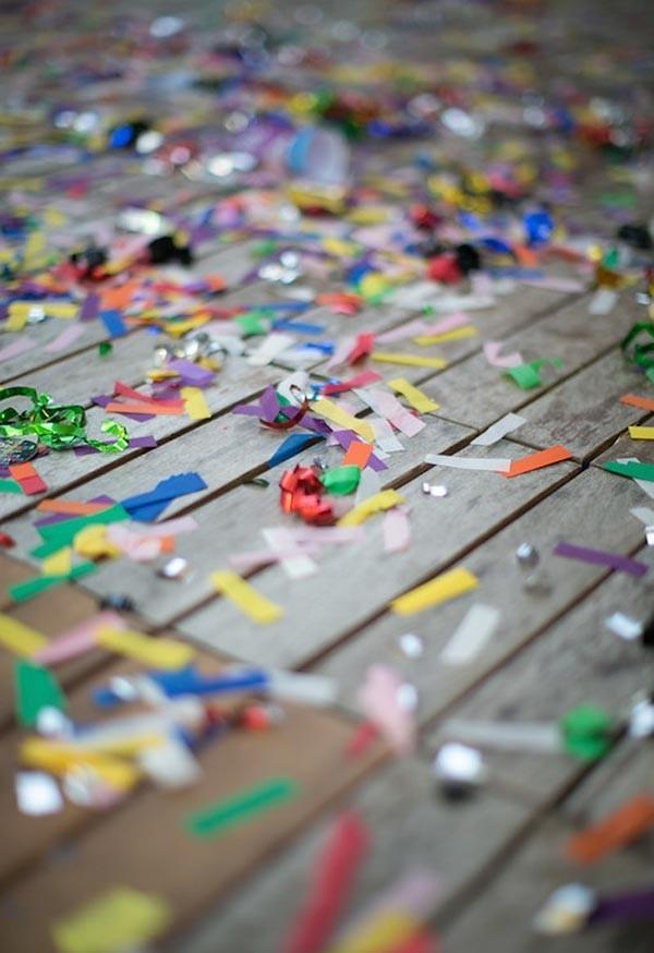 mehrere stücke papier in vielen farben dekoideen