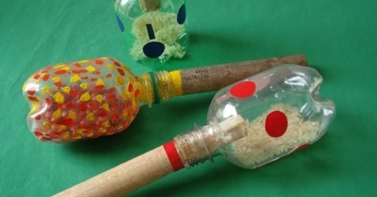 originelle maracas selber machen plastikflaschen