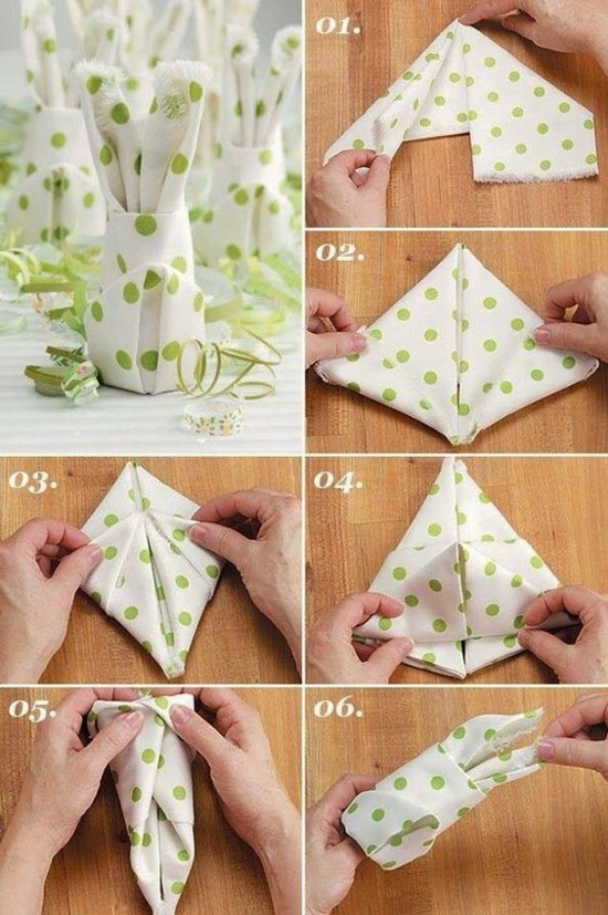 osterhase servietten falten tischdeko selber machen