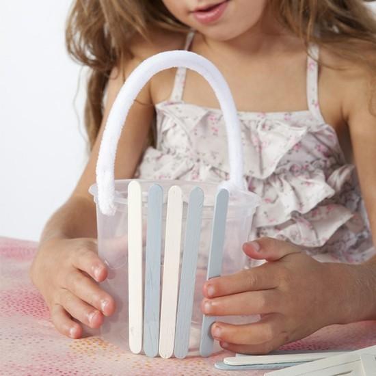 osterkorb basteln mit kindern tischdeko selber machen