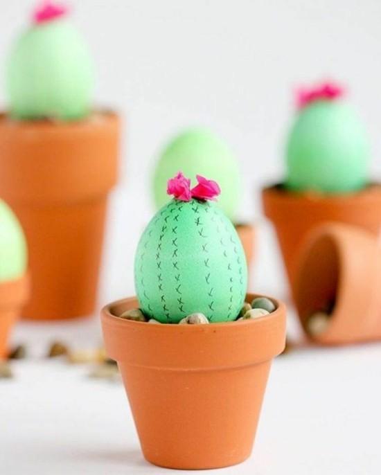 ostern bastelideen kaktus deko