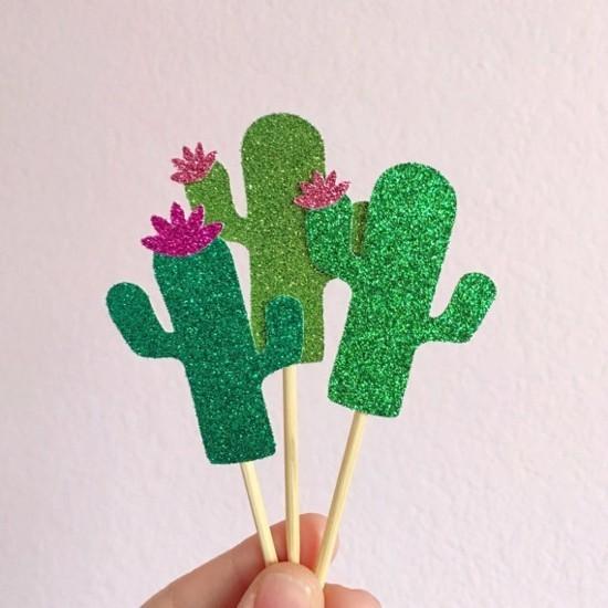 party kaktus deko basteln