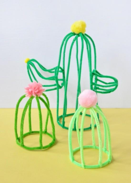 pfeifenputzer kaktus deko ideen