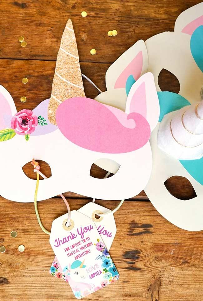 schöne Karnevalsmasken Einhorn bastelideen