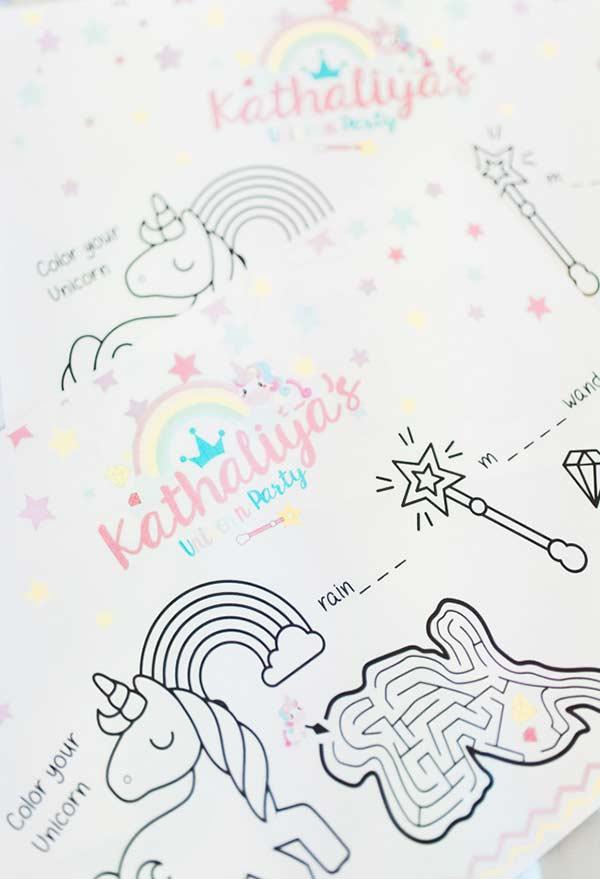 schöne Zeichnung Einhorn bastelideen