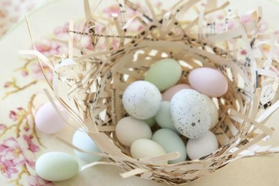 schale mit eiern tischdeko selber machen