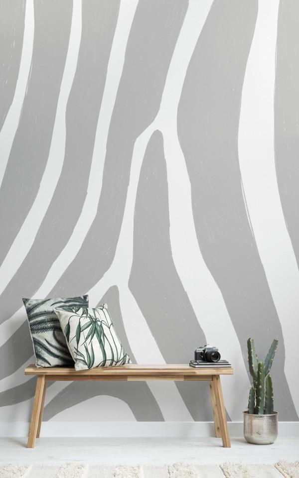 tapetentrend grau zebra