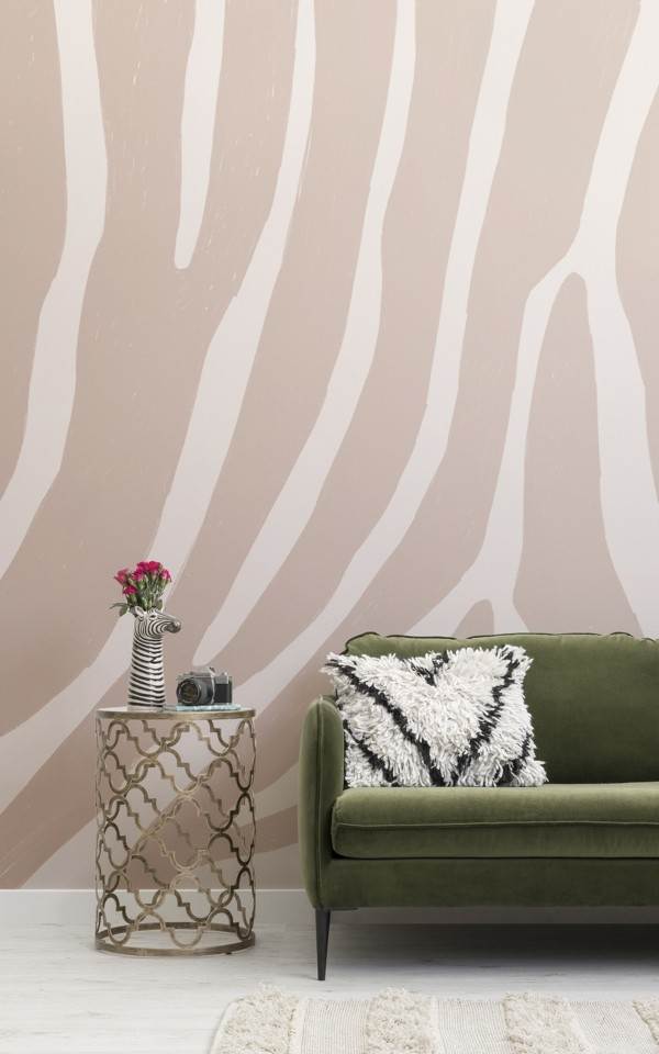 tapetentrend zebra pink