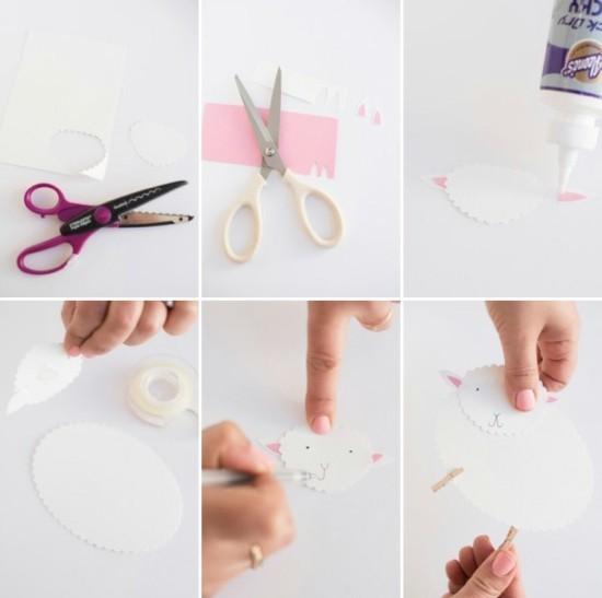 tischdeko selber machen diy schaf aus papier